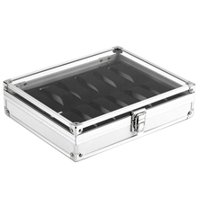 Watches-Box Storage-Box Square-Case Jewelry Rectangle Aluminium 12-Grid-Slots Suede Useful