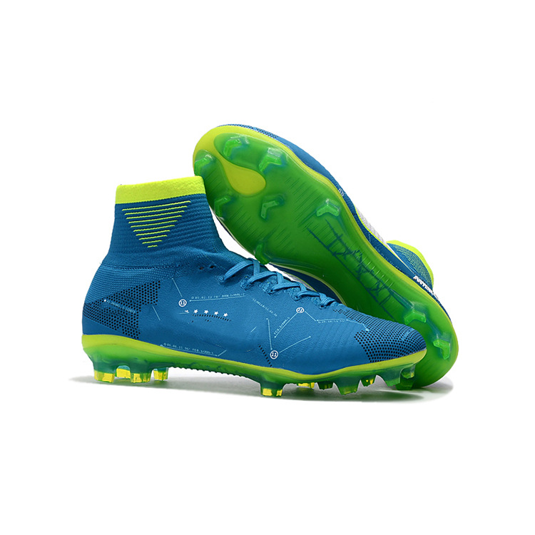 Men's Women's Professional Competition Training Football Shoes Anti-skid Wear-resistant AG Fashion High-top Nail Soccer Shoes