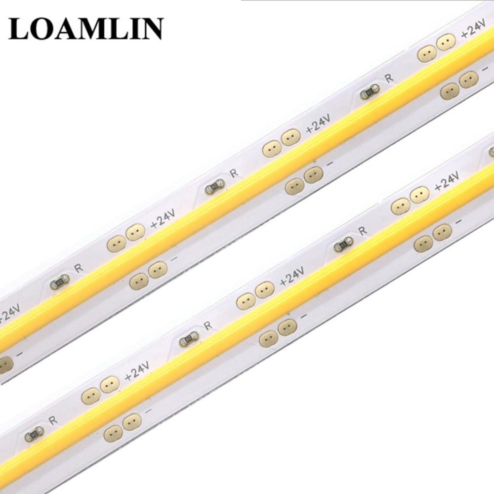 High Density COB/FOB Led Flexible Strip Light, 14W/M RA80 White/Nature White/Warm White/Yellow/Red/Blue/Green Led Lighting IP30