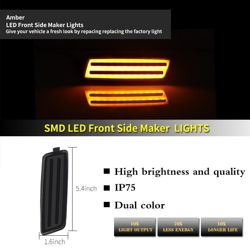 ijdm ambar led luz de marcador lateral 04