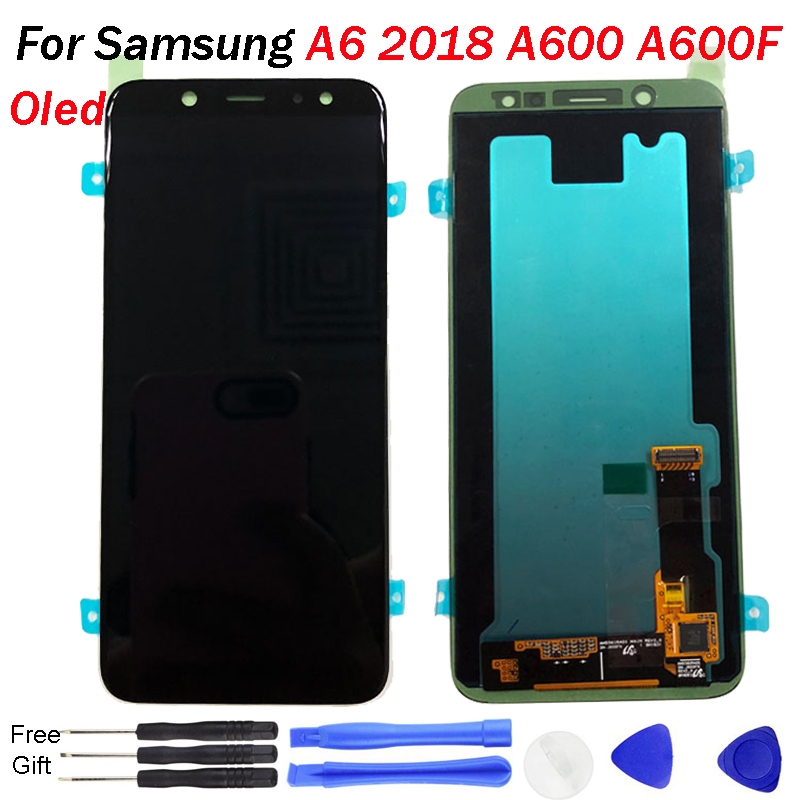 Super OLED For Samsung A6 2018 A600F A600G SM-A600FN LCD Display Touch Screen Digitizer Assembly A600 Display Pantalla