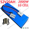 52V 1000W 2000W litowo Ebike baterii 52V 20AH akumulator elektryczny rower skorzystaj z komórkowego LG 52V 20AH akumulator do skutera elektrycznego + 5A ładowarka