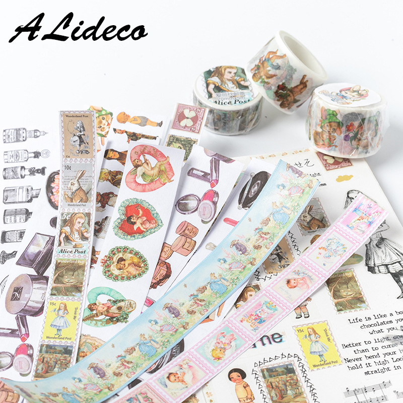 1pcs/1lot Washi Masking Tapes Easter Party Animals Decorative Adhesive Scrapbooking DIY Paper Japanese Stickers 5M