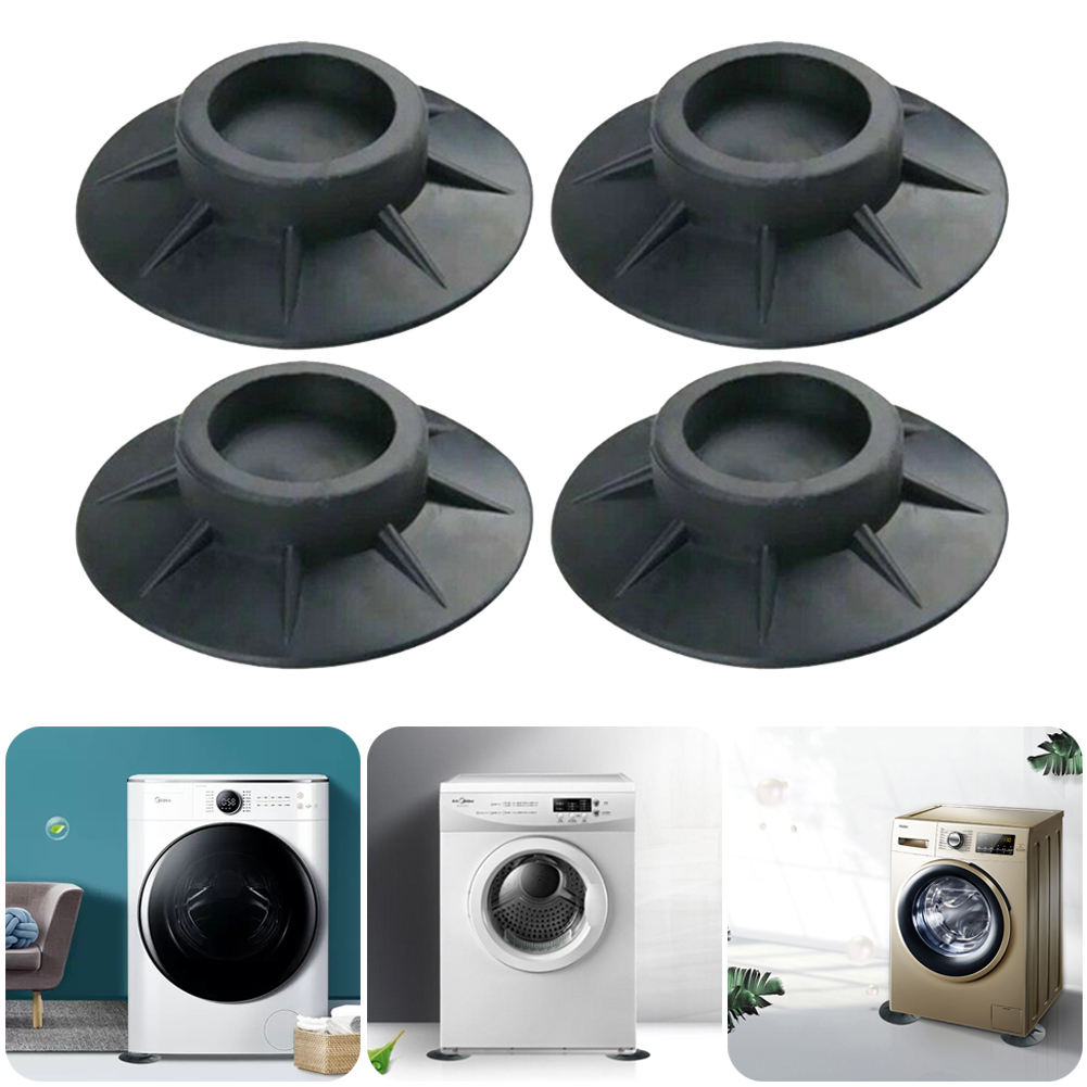 Anti-Vibration Pads for Washing Machine Reduce Noise Walking Scratches Anti-slip Rubber Pads for Washer and Dryer