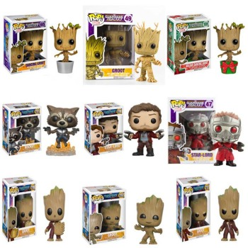 the avengers 3 1 4 bust peter guardians of the galaxy star lord peter jason quill pvc action figure bambola g1171 FUNKO POP Marvel Guardians of The Galaxy Anime Figure Groot Vinyl Action Figure Original Box Collectible Model Toy 2F25