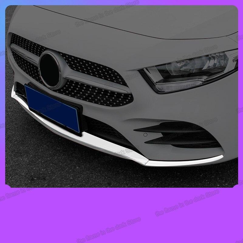 Lsrtw2017 abs車のフロントバンパートリムグリル装飾リップメルセデスベンツのためのA200 A180 2019 2020 W177アクセサリー自動