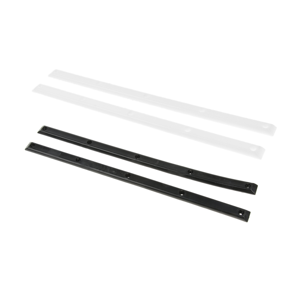 2 Sets Skateboard Rails With Screws Outdoor Sports Parts Anticollision Strip-14.2inch