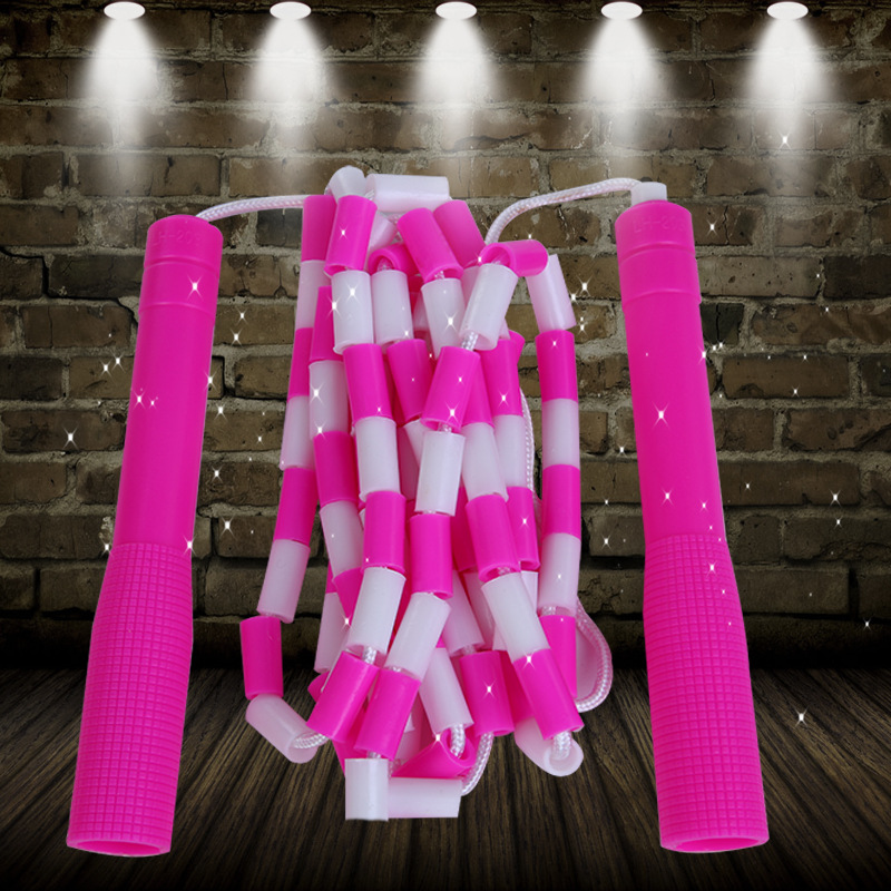5 M Bamboo Joint Pattern Jump Rope Primary School STUDENT'S Fancy Tiaoshen Performance Beads Rope Adult Children Jian Shen Sheng