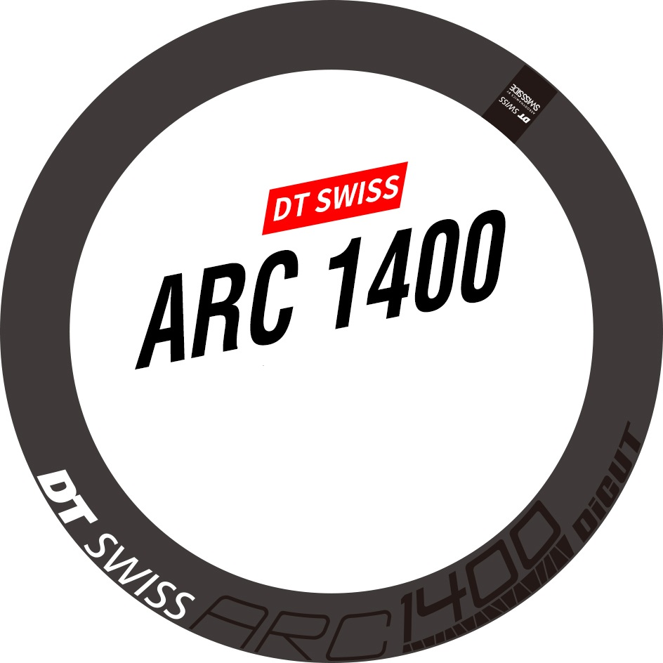 DT SWISS ARC 1100 RIM DECAL SETS for two wheels rim depth 50mm