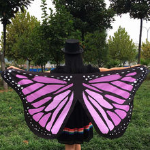 3D Print Soft Scarves Cosplay Fabric Butterfly Christmas Wings Wraps Fairy Lady Nymph Pixie Costume Accessory Scarf navidad #ZH(China)