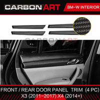 Real Carbon Fiber material Car interior mouldings Door Panel Cover stripe trim Suitable For BMW F25 F26 2014 2015 2016