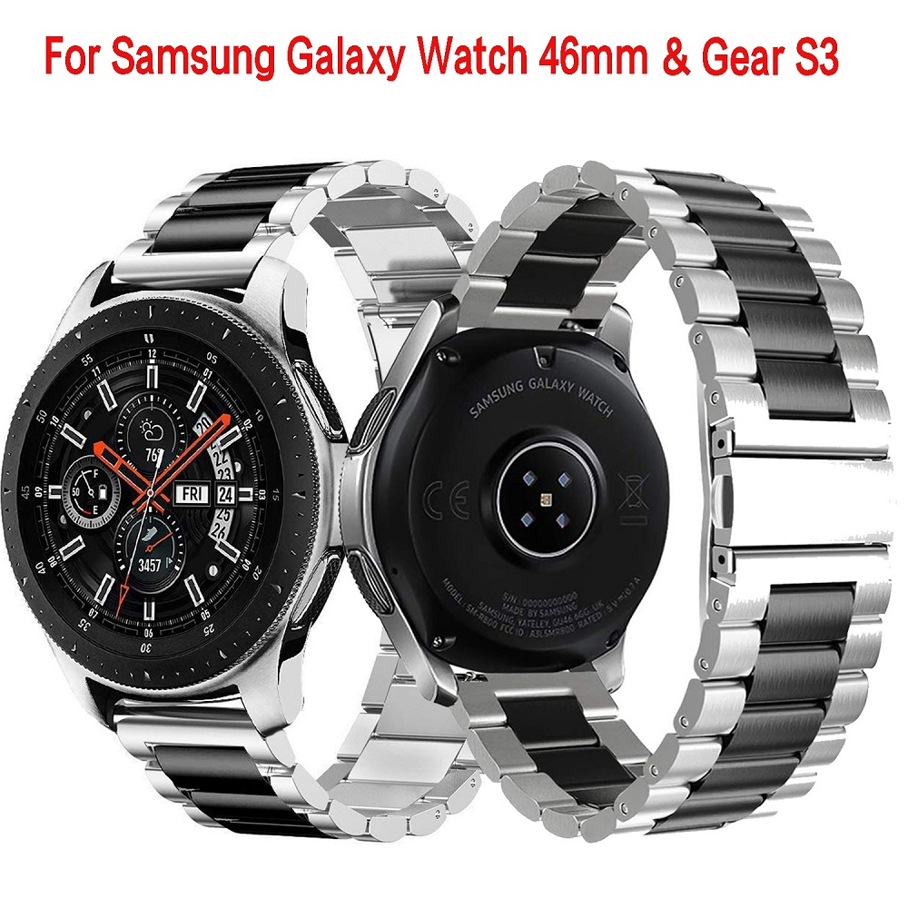 22mm  Universal Stainless Steel Watch Strap For Samsung Galaxy Watch 46mm /Gear S3 Classic/S3 Frontier Wristband Metal Wristband