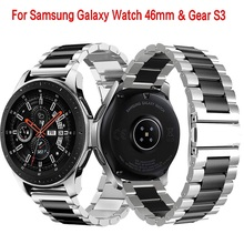 22mm  Universal Stainless Steel Watch Strap For Samsung Galaxy 46mm /Gear S3 Classic/S3 Frontier Wristband Metal