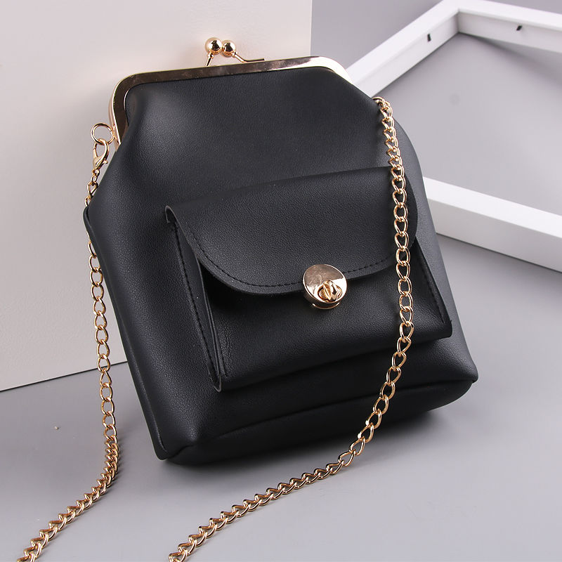 women`s handbags pu leather kiss lock shell bags (4)