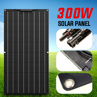 300W 12V Solar Panel Battery Charger Solar Cell Kit Complete Flexible Portable A Monocrystalline Rechargeable Power System Car