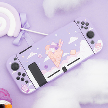 Ice cream Cat Protective Shell Split Housing TPU Soft Cover Shell NS Game Console Case Box For Nintendo Switch Accessories