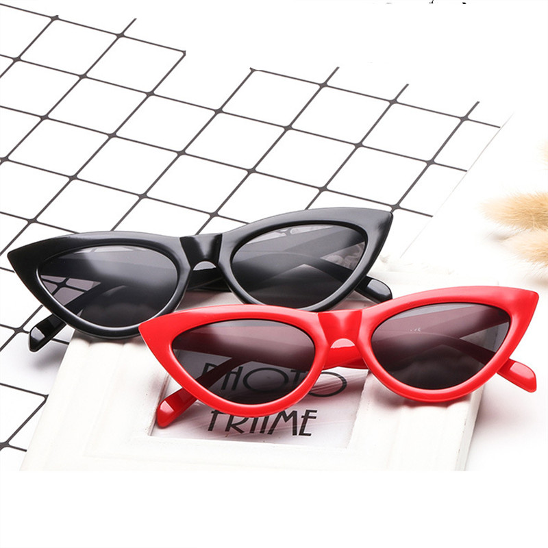NEW <font><b>Cute</b></font> <font><b>Sexy</b></font> <font><b>Retro</b></font> <font><b>Cat</b></font> <font><b>Eye</b></font> <font><b>Sunglasses</b></font> Women Small Black White Triangle Vintage Cheap Sun glasses Red Female uv400 image