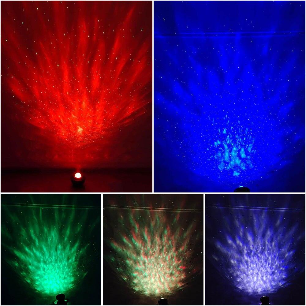Led colorido céu estrelado projetor blueteeth usb