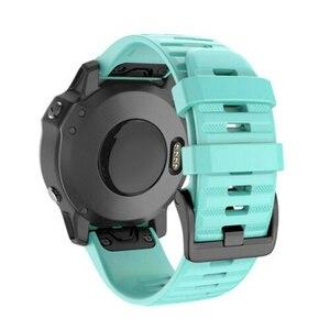 Цветной ремешок 20/22/26 мм, быстросъемный силиконовый ремешок Easyfit для замены из силикагеля, мягкий ремешок для часов Garmin Fenix 6 6X 6S Pro