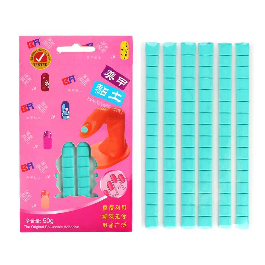 ails Adhesive Glue Clay Removable Reusable Non Toxic Nail Art Tool Sticky Tip Fixator Clay DIY Nail Practice Display (1)