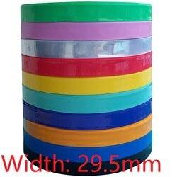Ширина 29,5 мм (диаметр 18,5 мм) 18650 Lipo Battery Wrap PVC термоусадочная трубка изолированный рукав Защитная крышка плоский пакет красочные