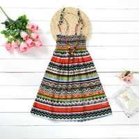 Teen Mädchen Sommer Kleider Bohemian Strand Floral Prinzessin Print Kleid Für Baby Mädchen 3-12Yrs Kinder Kleidung Mit Halskette Geschenk