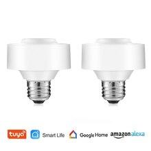 Smart WiFi Light Socket Voice Control Tuya Smart Life Smart Лампа Держатель Remote Control Led Bulb Google Home Amazon Echo Alexa