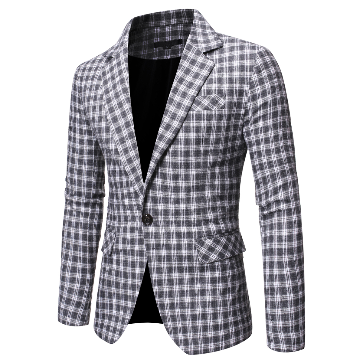 Autumn Winter Mens Suit Jacket 2019 Formal Business Vinatge Plaid Blazers Slim Fit Wedding Party Blazers Jacket Mens Workwear