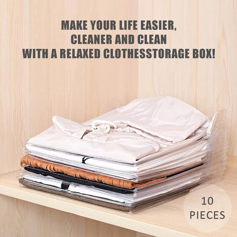 10 Layer Clothes Storage Board Fold Clothing Organizer Shirt Folder Backpack T-shirt Document Closet Drawer Divider Organizer