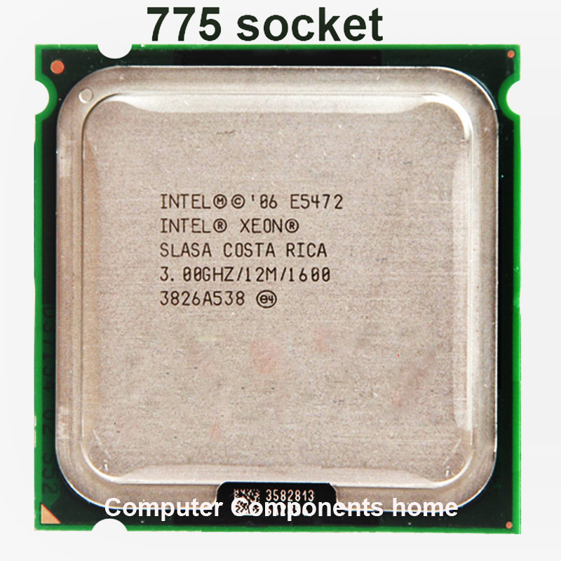 INTEL XEON E5472 CPU Quad-Core 3.0GHz 12MB  80W Works On LGA775 Mainboard No Need Adapter