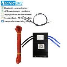 20S 100A akıllı BMS ile 0.6A aktif batarya koruma levhası Bluetooth 14S ~ 20S 100A telefon APP lifepo4 li ion 16S 20S