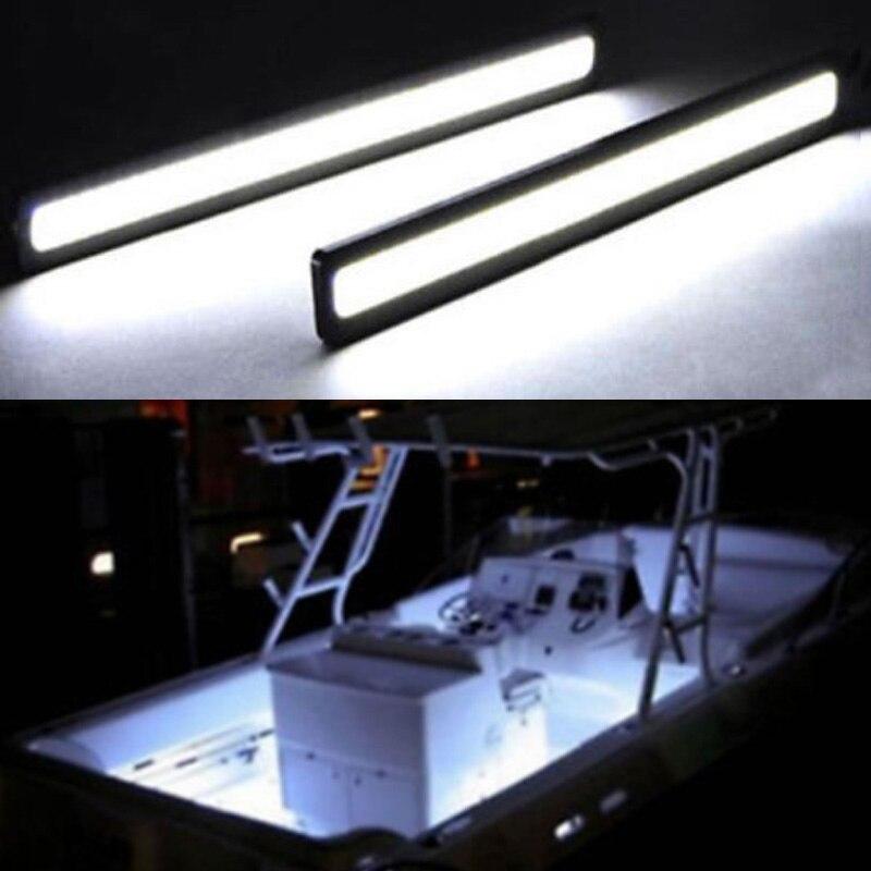 2 pièces bateau marin imperméable à l'eau grand Super lumineux 12 v blanc froid LED lumières de courtoisie
