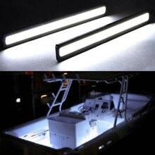 2pcs Marine Boat Waterproof Large Super Bright 12 v Cool White LED Courtesy Lights
