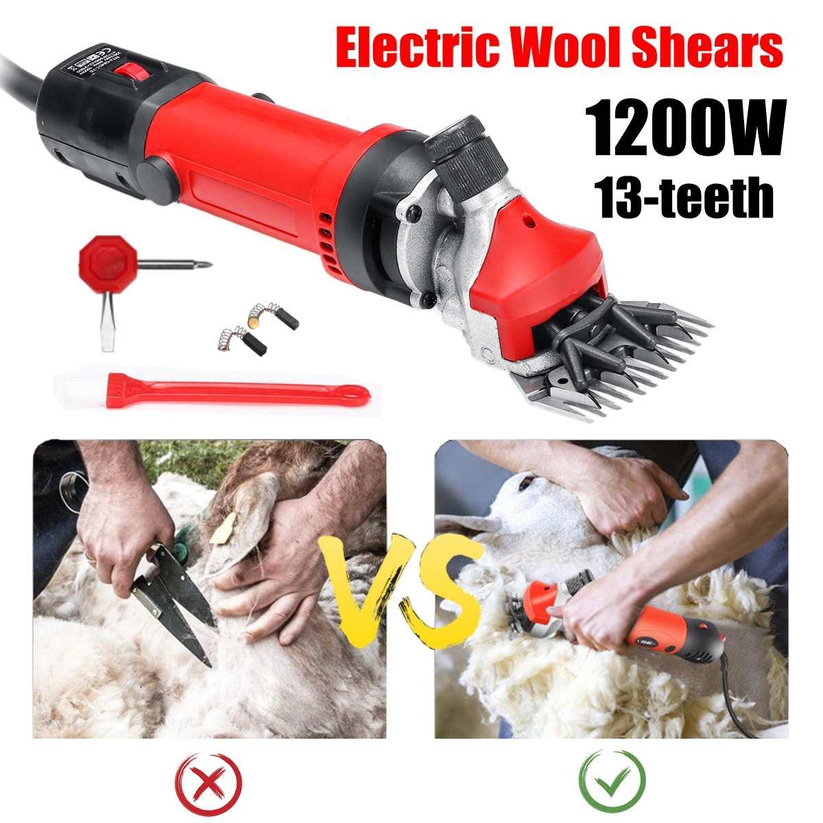 1200W EU Plug Электрические для стрижки овец кусачки для шерсти домашних животных, набор для стрижки шерсти, ножницы для стрижки животных, товары