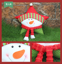 Newest 2019 Christmas Star Pillow Cute Santa Claus Snowman Elk  For Xmas New Year Home Decorative Casual