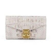 dae Crocodile leather handbag for lady leather purse himalaya white medium and long wallet women clutch bag mobile phone bag