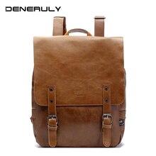 Кожаный рюкзак для ноутбука, Женский винтажный вместительный рюкзак, школьный рюкзак для девочек подростков, рюкзаки для путешествий и походов