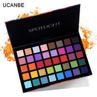 UCANBE glow 40 Color Eye Shadow Palette Colorful Artist Shimmer Glitter Matte Pigmented Powder Pressed Eyeshadow Makeup Kit