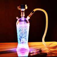 Acrylic Hookah shisha Cup Set With LED Light Shisha Pipe shisha accessories Chicha Narguile Accessories Shape Glass Hookah