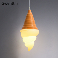 Creative Pendant Light Ice Cream Hanging Lamp for Dining Room Bar Coffee Decor Modern Led Lighting Fixtures Industrial Luminaire