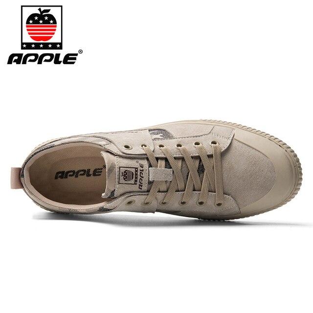 Фото бренд apple 2020 зимняя мужская обувь из натуральной кожи высококачественная