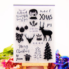Deer Clear Stamps for DIY Scrapbooking Card Silicon Merry Christmas Transparent Making Album paper Craft Decor New