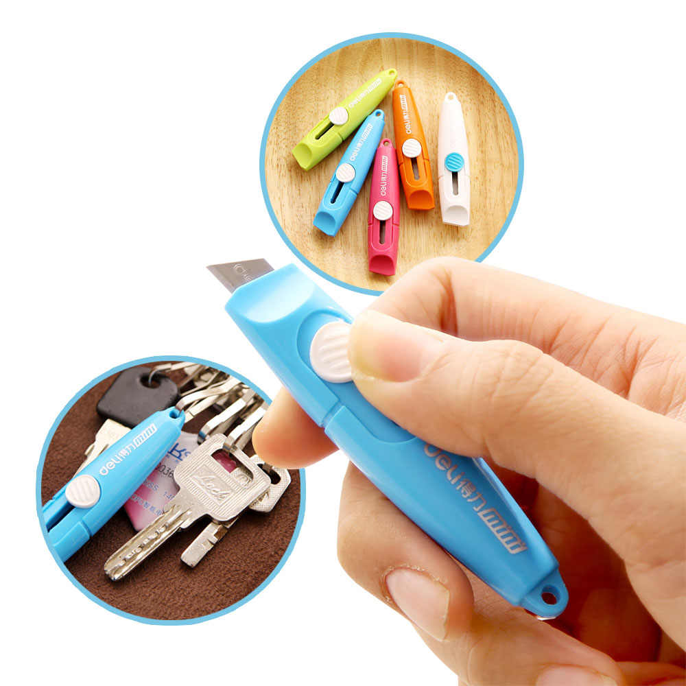 Mini lindo pequeño Deli papel de Color de dulces Wallpaper foto carta caja de arte cuchillo Oficina Herramientas y suministros