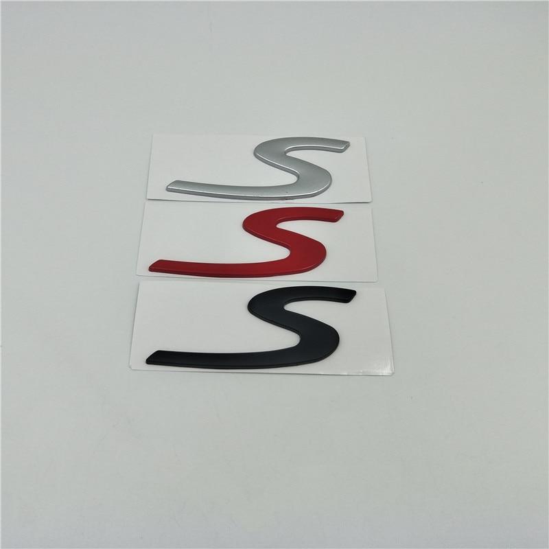 For Porsche Car Sticker S Letter Logo Rear Trunk Tail Nameplate Badge Emblem