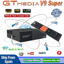 GT ميديا V9 سوبر DVB S2 Freesat استقبال الأقمار الصناعية V8 النسخة الجديدة فائقة H.265 واي فاي 4 سنوات أوروبا اسبانيا PT دي PO Cline TV فك