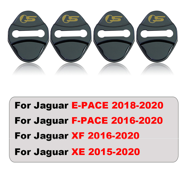 4pcs car Protection cover Car Door Lock car accessories interior For Jaguar F PACE E PACE XE XF R sport S Car sticker 6