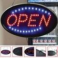 Светодиодный дисплей с открытой вывеской  витрина  легкая установка  США  вилка  витрина  кафе  практичная  для баров  рекламная подсветка  дл...