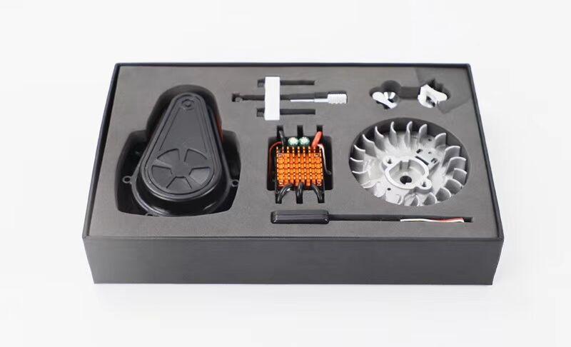 Wyścigi FID, 2019 wersja bezszczotkowy elektryczny rozrusznik do 1/5 gazu zasilany przez rc samochody (dla losi 5 t, baja 5b 5 t, losi dbxl, MCD, smok h w Części i akcesoria od Zabawki i hobby na  Grupa 1