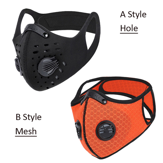WEST BIKING Sports Cycling Face Mask PM2.5 Anti-pollution Activated Carbon Half Face Shield Washable Mask With Filter Men 1