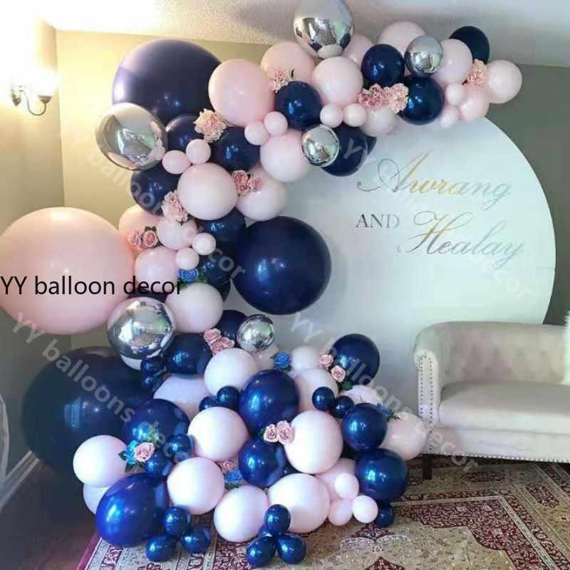 DIY Pastel Macaron balonlar kemer Garlandbaby pembe lacivert 5M zincir düğün yıldönümü doğum günü bebek duş parti dekorasyon